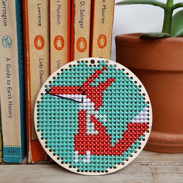 Lu's been at the cross stitch again! Kit from Flying Tiger UK.