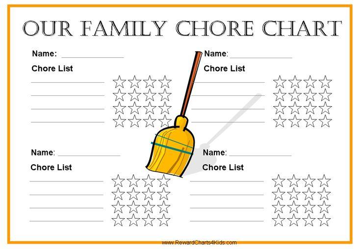 Free Printable Family Chore Chart.