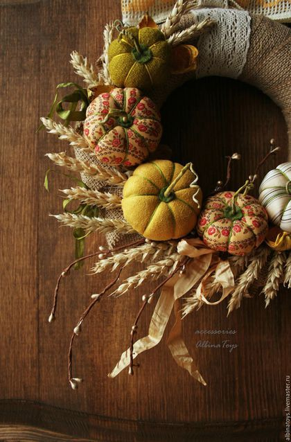 Autumn interior wreath / Интерьерные венки. Венок . Казань. Осенний декор. Осенний венок. Декор интерьера. AlbinaToys