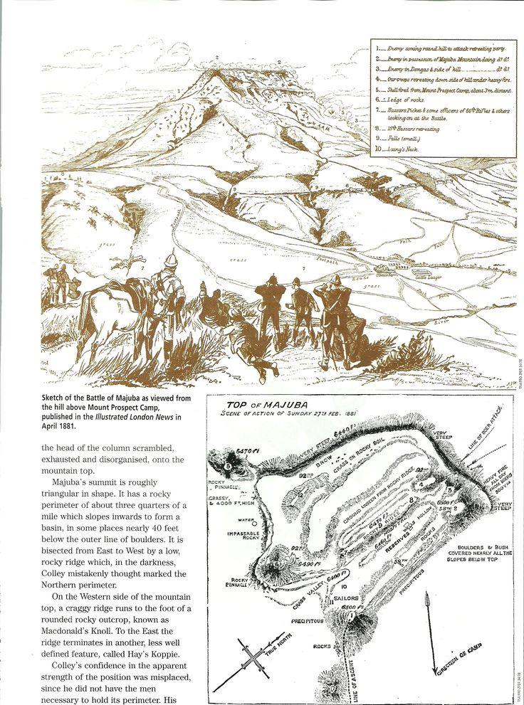 Sketch of the Battle of Majuba - Anglo Boer War