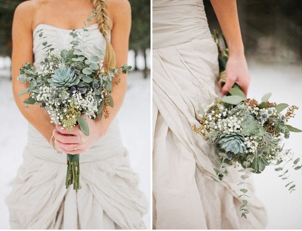 Beautiful Bouquet of Eucalyptus and Succulents!
