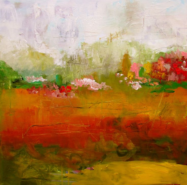 30 x 30 in abstract landscape wendy mcwilliams