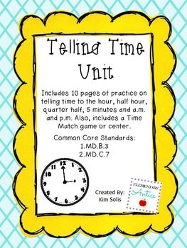 1000+ images about Telling Time on Pinterest | Choice boards ...
