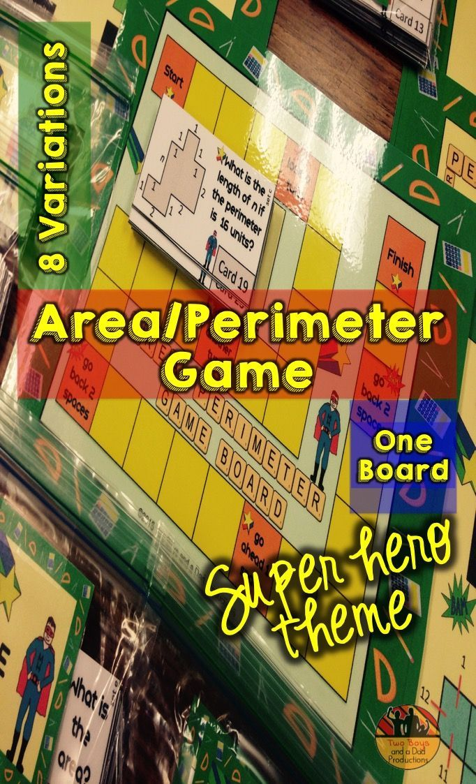 This Area and Perimeter Game is a fun way to have students use different ways to find the perimeter or area such as, adding sides or counting squares.  There are 8 variations.  This paid resource has everything you need including labels!  Come check it out!