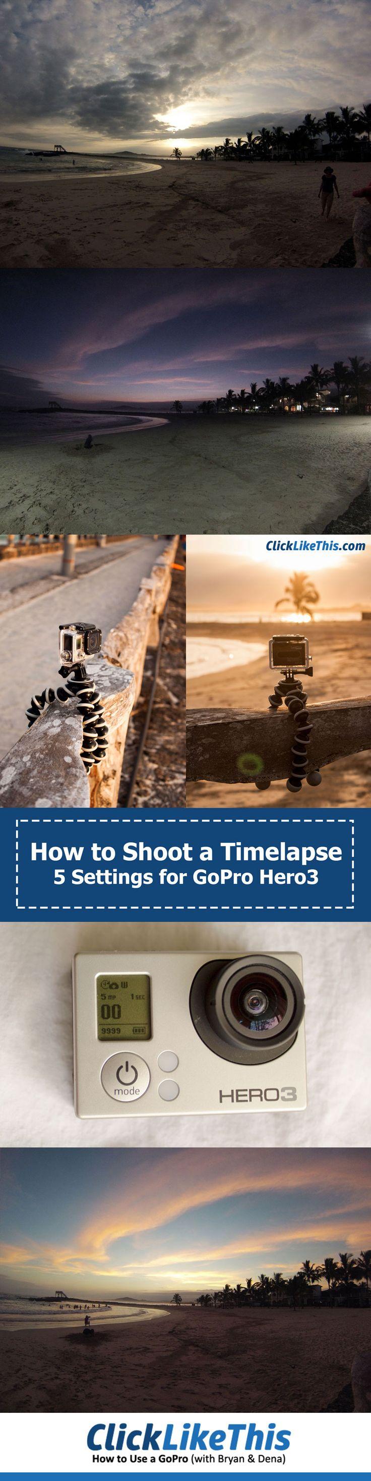 GoPro Hero3 timelapse settings