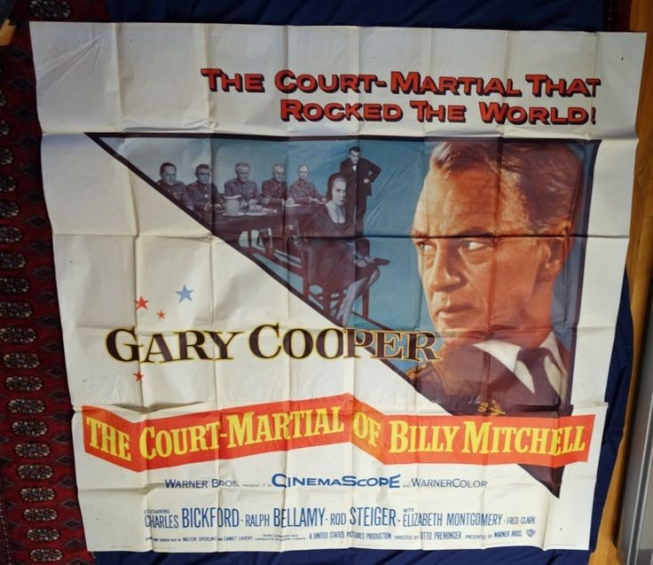 MovieArt Original Film Posters - COURT-MARTIAL OF BILLY MITCHELL, THE (1956) 4915, $75.00 (http://www.movieart.com/court-martial-of-billy-mitchell-the-1956-4915/)