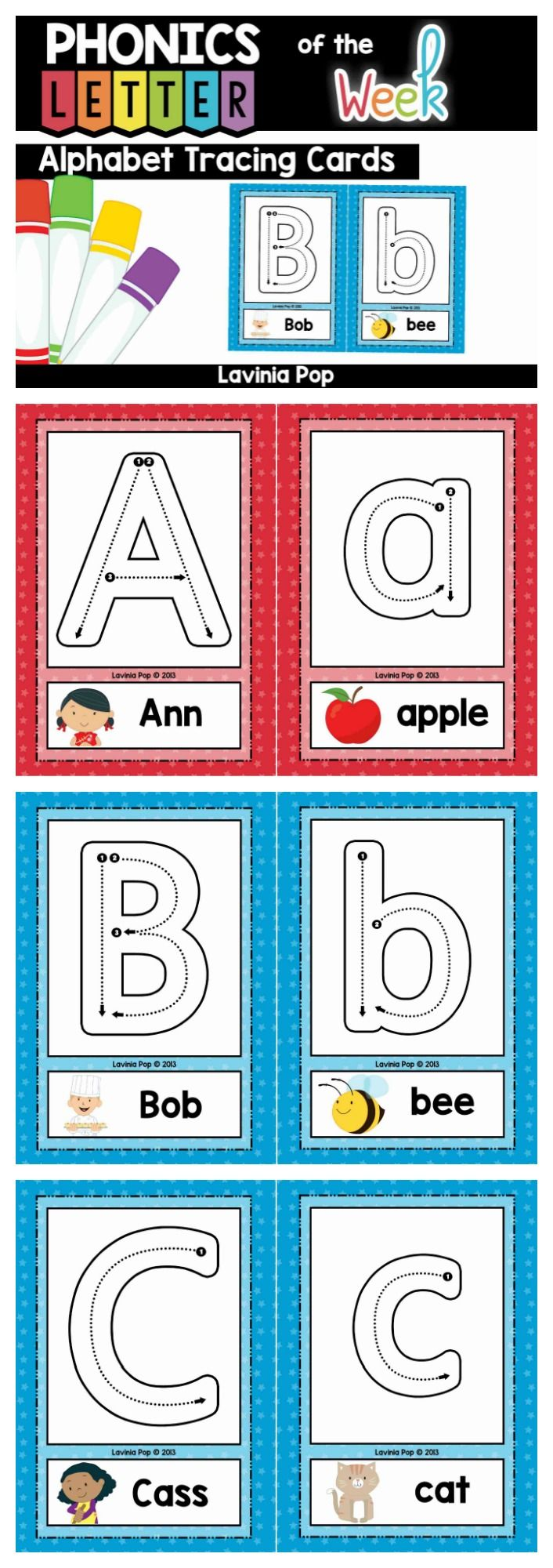 1000 images about letters phonics sight words on pinterest alphabet tracing cards with correct letter formation mitanshu Image collections