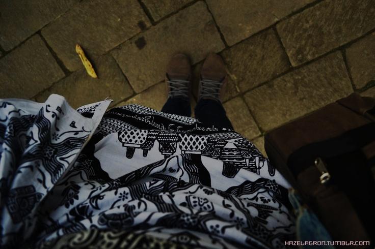 Stepping on Borobudur's pavements