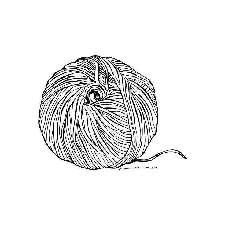 Картинка белые и черные ниток