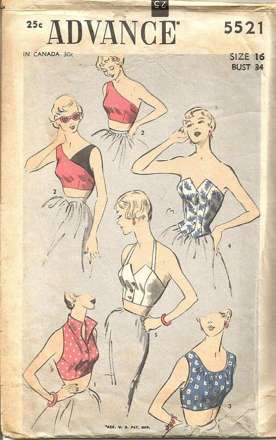 1950s Bombshell Rockabilly Tops Halter Top One by kinseysue