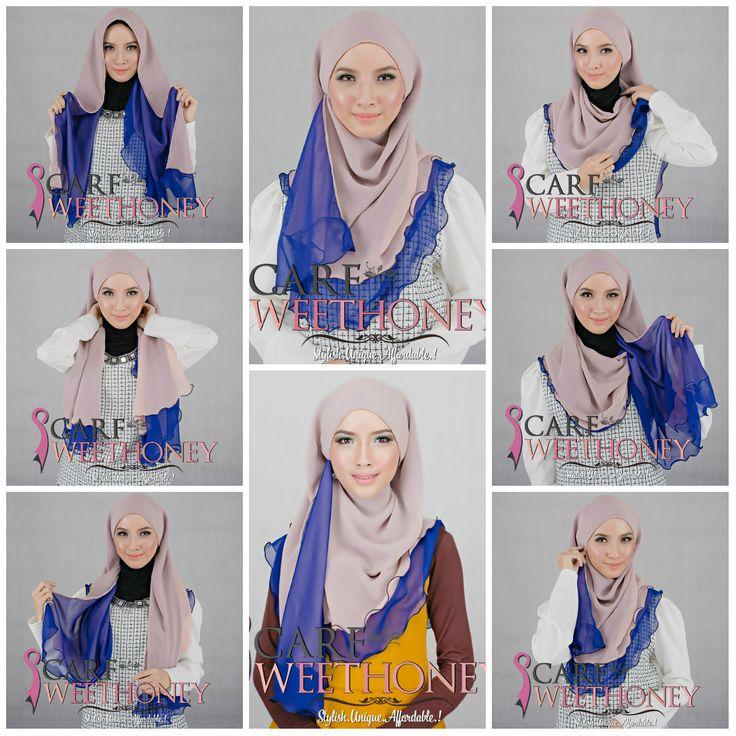 Layered Half-moon shawl