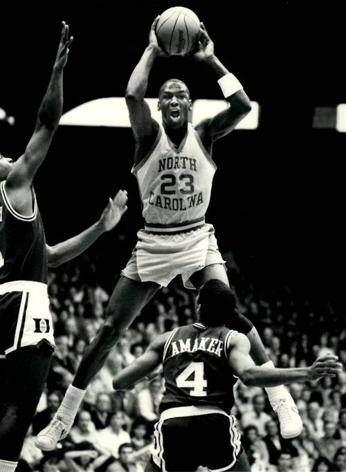 Air Jordan, of course a Tarheel,  only the the best player ever to play the game could say he played for the University of North Carolina.