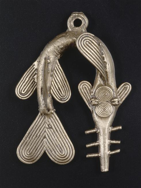 Poids à peser l'or figuratif représentant un poisson-scie (C) RMN-Grand Palais / Labat / CFAO brass, cire-perdue casting Akan (population) (origine), Ashanti (ethnic group), Baoule (ethnic