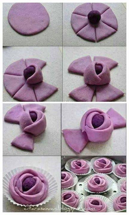 Rose mantou