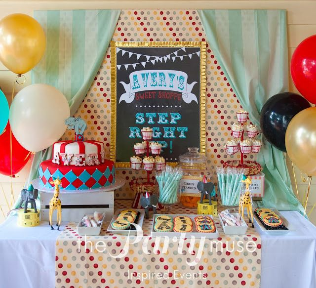 The Party Muse ™: Vintage Circus 1st Birthday