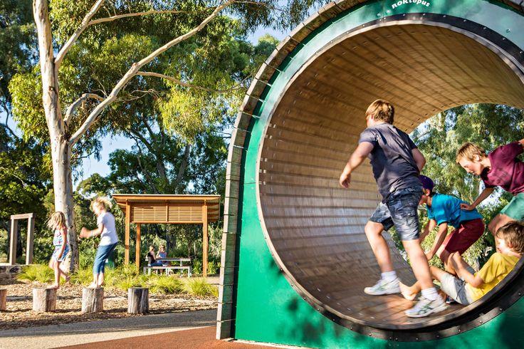 Giant mouse wheel Bonython Park