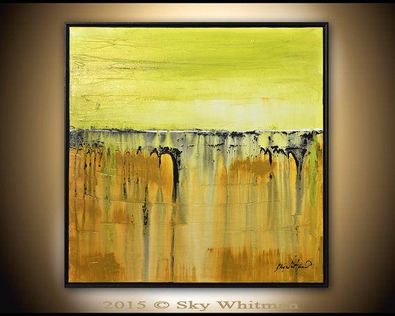 Framed Square Painting Original Abstract Art by originalmodernart