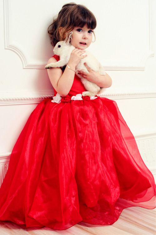 17 Best ideas about Red Flower Girl Dresses on Pinterest | Red ...