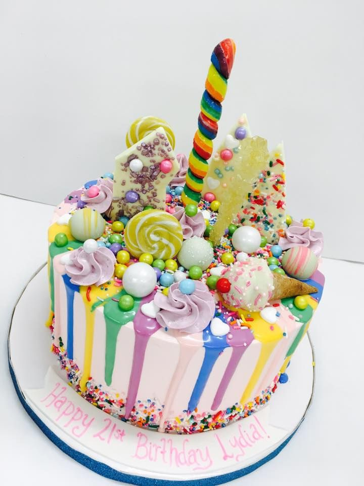 Sugar Rush Colorful Candy Birthday Cake Designs By Cakeart At