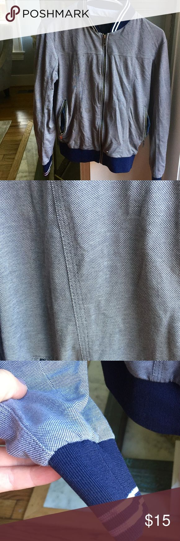 ZARA Men's Jacket size small. Some wear; has a couple of small stains as well as a stain on the sleeve. Zara Jackets & Coats