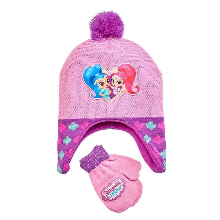 Nickelodeon Girls Shimmer Shine Fleece Hat Mittens Set Pink Toddlers 2T-4T NEW  12.99 free us shipping http://www.ebay.com/itm/Nickelodeon-Girls-Shimmer-Shine-Fleece-Hat-Mittens-Set-Pink-Toddlers-2T-4T-NEW-/232412027965?ssPageName=STRK:MESE:IT