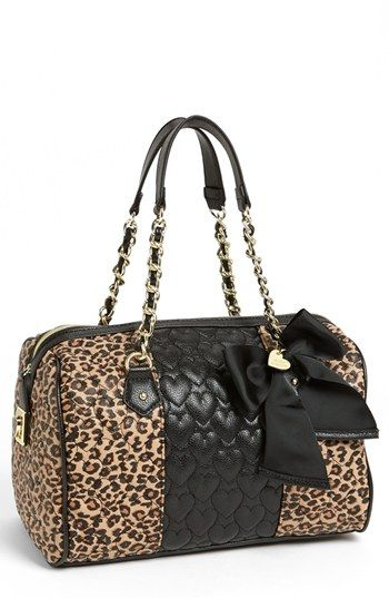 Ooh...somebody tell Bob...this SO looks like Christmas to me!!! Betsey Johnson 'Be My Wonderful' Satchel | Nordstrom