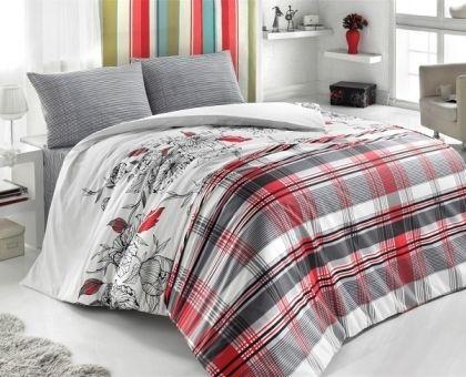 Купить постельное белье из ранфорса BRIELLE TANGO красное 1,5-сп от производителя Brielle (Турция)