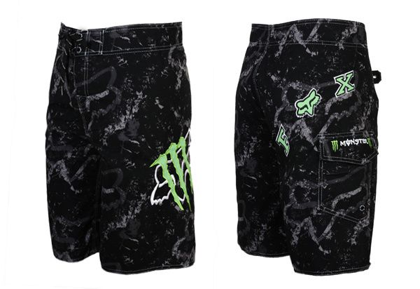 Fox Monster Energy Boardshorts Men Beach Pants Clothing