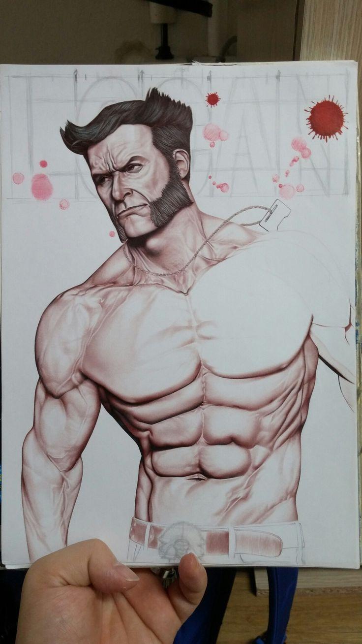 Logan (ballpoint pen art) - good bye wolberine... thank you Hugh Jackman... 휴잭맨의 마지막 울버린역을 기리며... 이 그림을 휴잭맨에게 바칩니다^^
