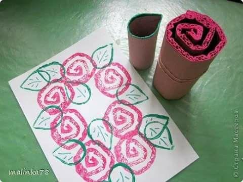 Wc rol rozen stempelen