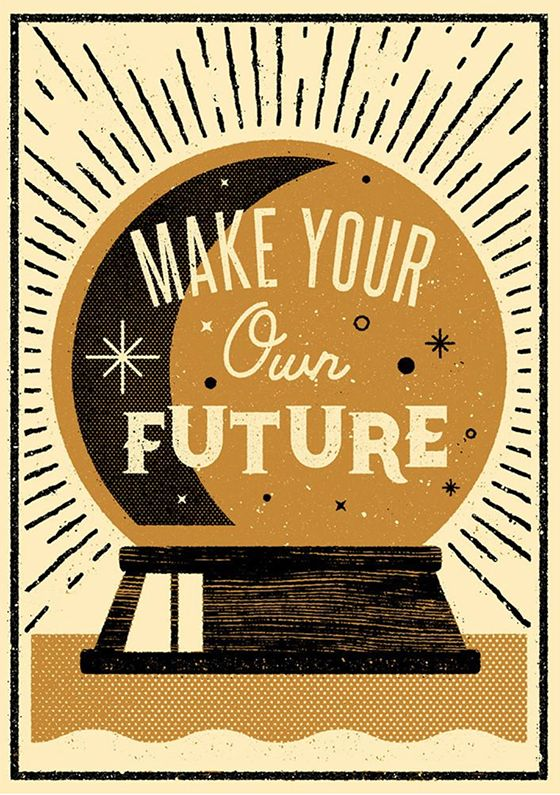 Make Your Own Future by Telegramme Paper Co.