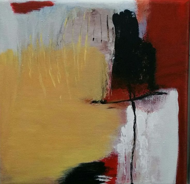 Up Coming, small abstact acrylic painting by Leanne Buskermolen #SOLD