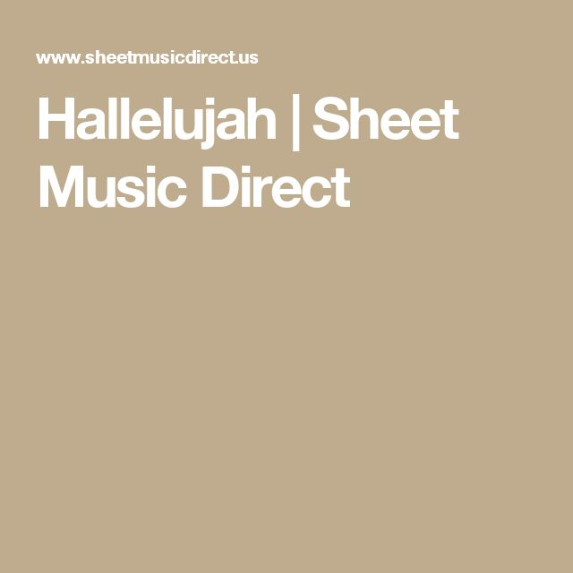 Hallelujah Lyrics And Piano Sheet Music: 25+ Best Ideas About Sheet Music Direct On Pinterest