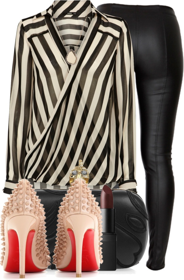 """""""Pigalle Spikes."""" by snake-biter ❤ liked on Polyvore"""