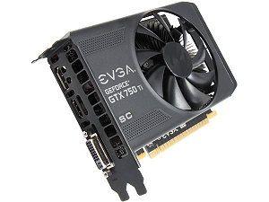 EVGA 02G-P4-3753-KR G-SYNC Support GeForce GTX 750 Ti Superclocked 2GB 128-Bit GDDR5 PCI Express 3.0 Video Card