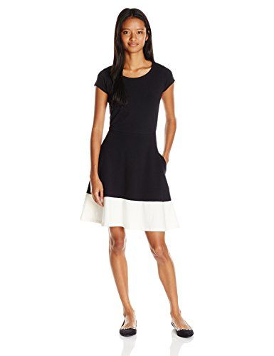 Special Offer: $31.99 amazon.com Wear the perfect flattering short sleeve flared dressRound neckline with accentsCap sleevesTapered waist line with flared skirt