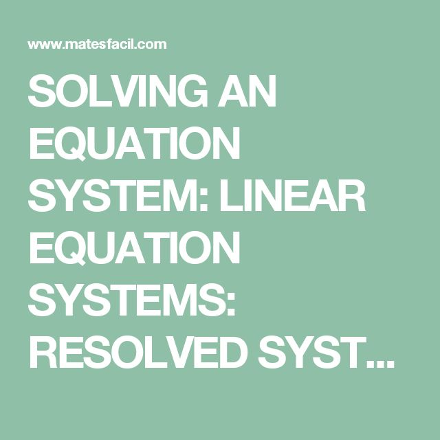 13 best Linear Equations and Systems images on Pinterest | Equation ...