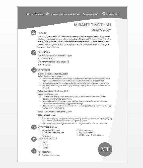 modern microsoft word resume template miranti by inkpower 1200 - Business Resume Template Word