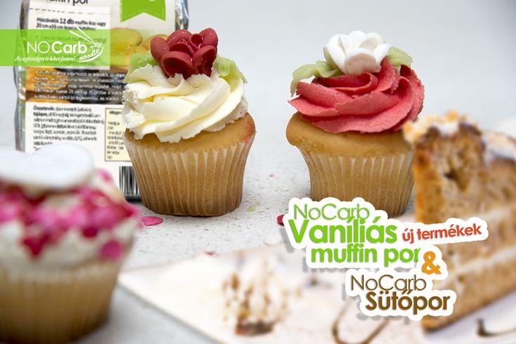 Új termékek a NoCarb kínálatában: NoCarb vaníliás muffin por és NoCarb sütőpor | Klikk a képre további információkért!