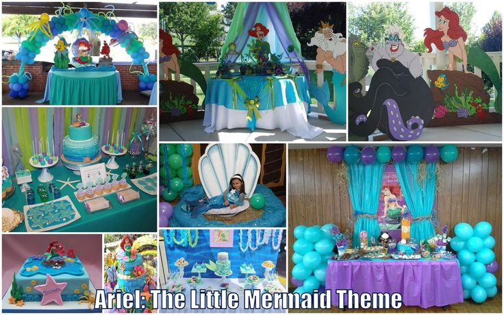 Athena Miel's Balloons, Bubbles and Party Needs: Ariel The Little Mermaid Theme for Reaux's Christening & Rana's 4th Birthday Party