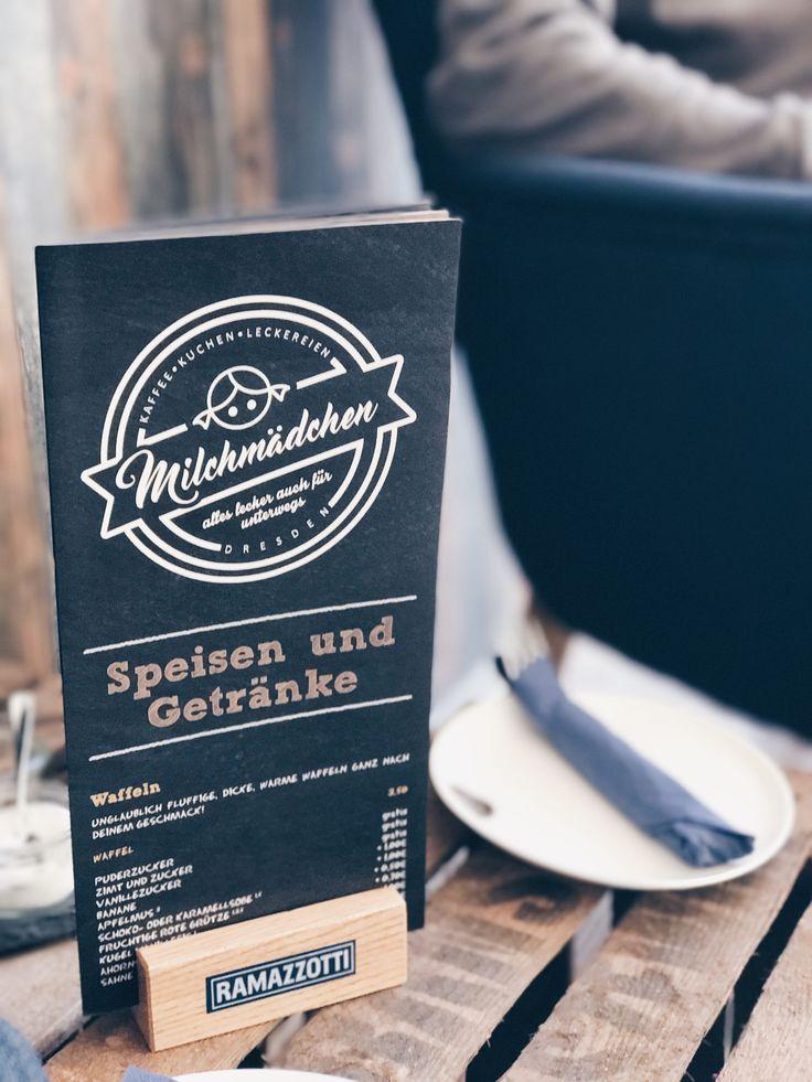 Caf Milchmdchen Dresden Mit DDFF SpeisekarteDresdenDresden