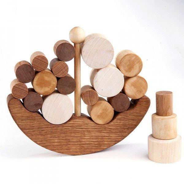 Das Balance-Holzspielzeug - Das Schiff von Wooden Caterpillar Mehr