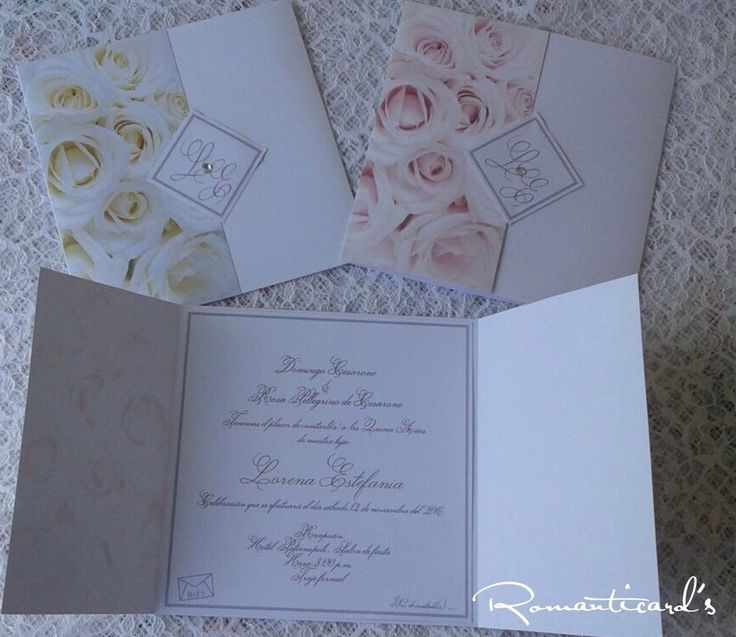 Partecipazione a Rose Modello Milano by Romanticards, by Romanticards e Little Rose Handmade, 2,20 € su misshobby.com