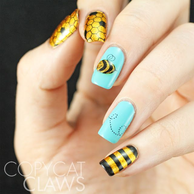 Best 25 bumble bee nails ideas on pinterest yellow nail pencil the digit al dozen does new improved40 great nail art ideas things that fly advanced stamping bees copycat claws prinsesfo Choice Image