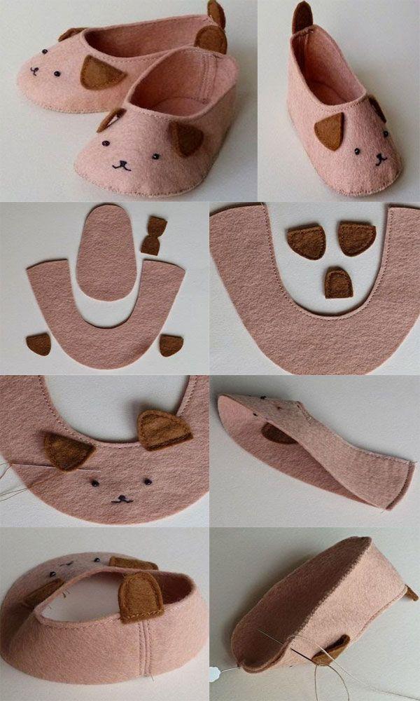 72209231b756e ... 17 mejores ideas sobre zapatos de beb de fieltro en - Ideas para  decorar zapatos de ...