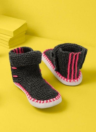 Mag. 175 - n° 04 Slipper socks with cuff Patterns
