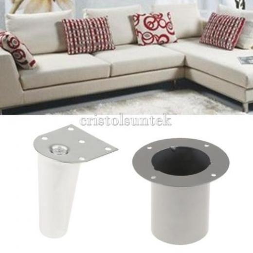 Small Sectional Sofa  Piece Metal Furniture Legs Sofa Couch Chair Feet Ottoman Settee Bench Leg Modern Metallic Iron