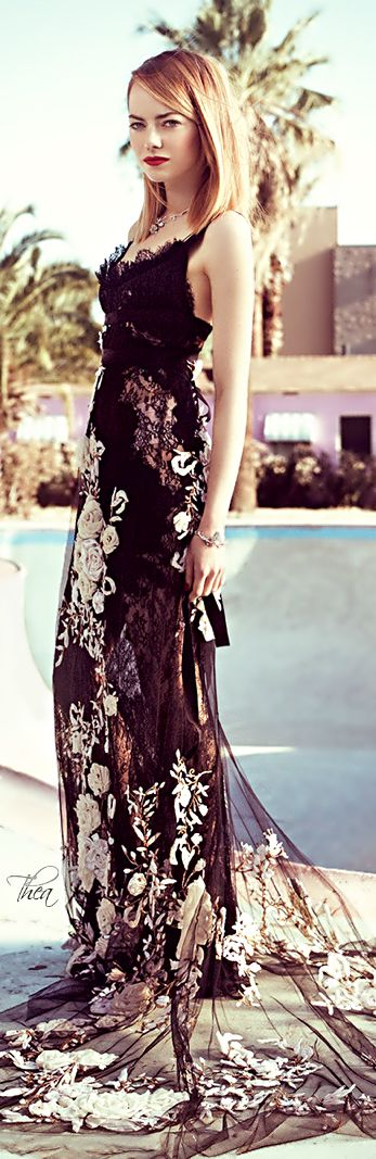 Women's fashion | Emma Stone Marchesa dress... my fave designer...