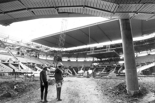 Rod Laver Arena Construction - 1987