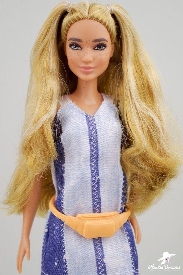 Fashionistas Barbie Doll Splattered Denim Poupees Barbie Barbie Fashionista Tenues Barbie
